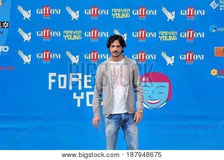 Giffoni Valle Piana Sa Italy - July 22 2013 : Marco Bocci at Giffoni Film Festival 2013 - on July 22 2013 in Giffoni Valle Piana Italy