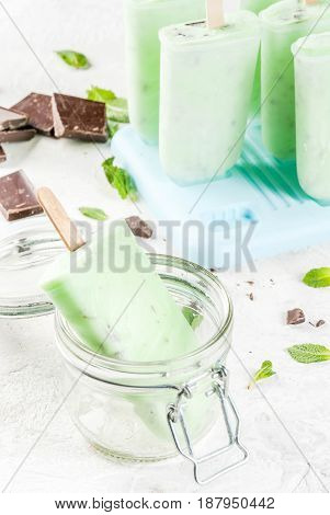 Mint And Chocolate Popsicles