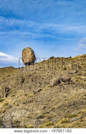 Big Rock At Top Of Hill