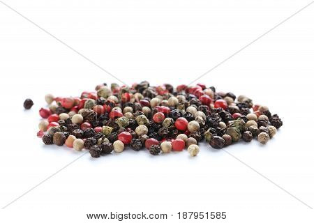 Pepper isolated on a white background, close up
