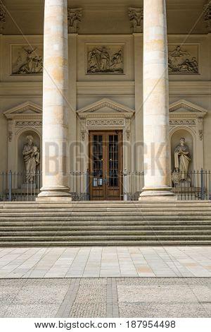 Entrance Door Of  Historic  Building