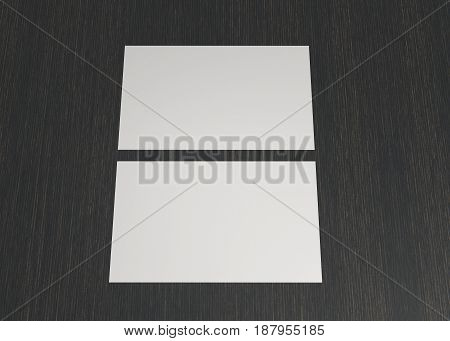 Business Name Card On Table