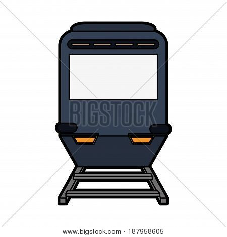 train or tramway frontview icon image vector illustration design