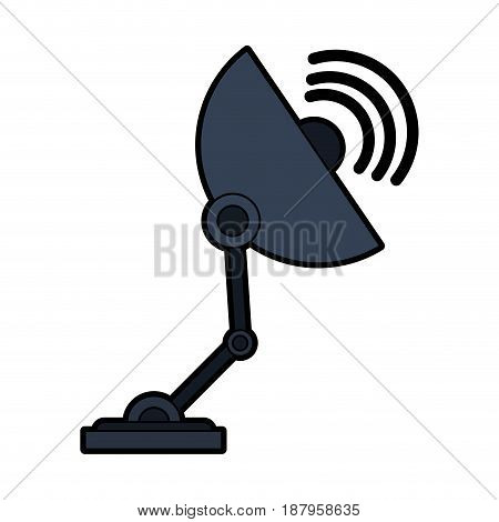 satellite dish telecommunications related icon image vector illustration design