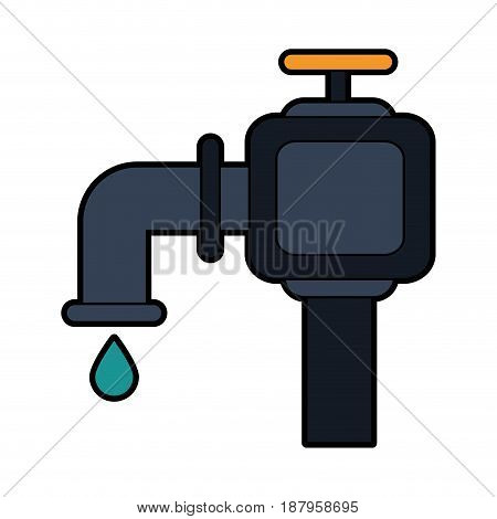 faucet and water drop icon image vector illustration design