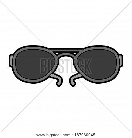 aviator sunglasses icon image vector illustration design