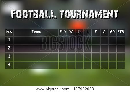 Football Results Table