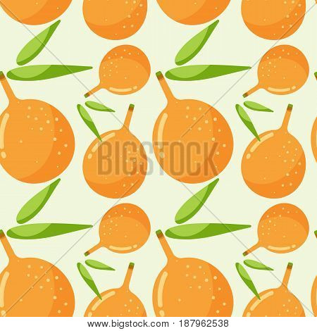 Seamless vector pattern with granadilla or passion fruit swatch inside