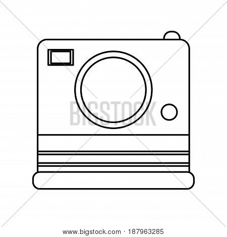 photographic instant camera icon image vector illustration design
