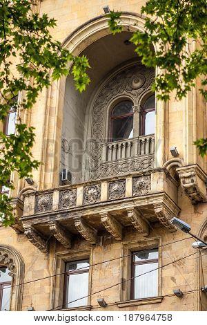Beautifull Ornamental Balcony, Tbilisi Science House, Georgia