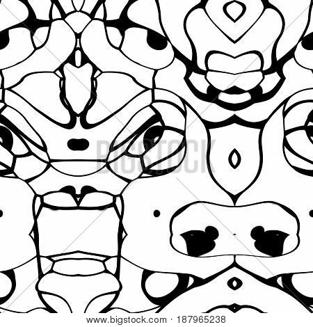 Seamless Ornament  Pattern In Abstract Style