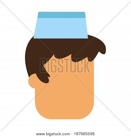 faceless fast food waiter icon image vector illustration design