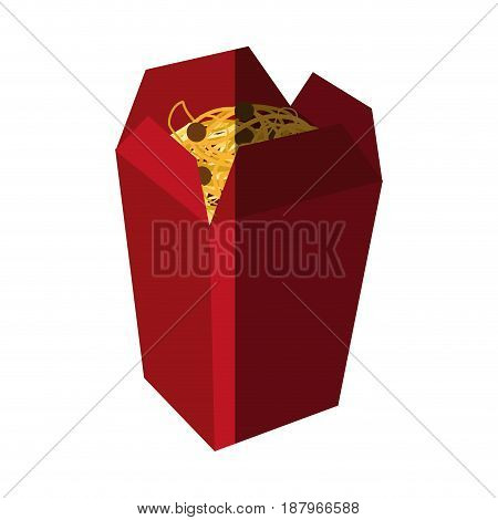 spaguetti or noodles takeout fast food icon image vector illustration design