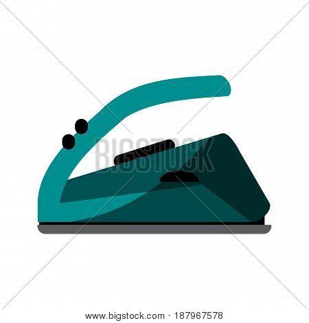 hot iron home appliance icon image vector illustration design