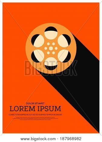 Movie and film retro vintage style. Graphic element template can be used for poster background printing backdrop vector illustration