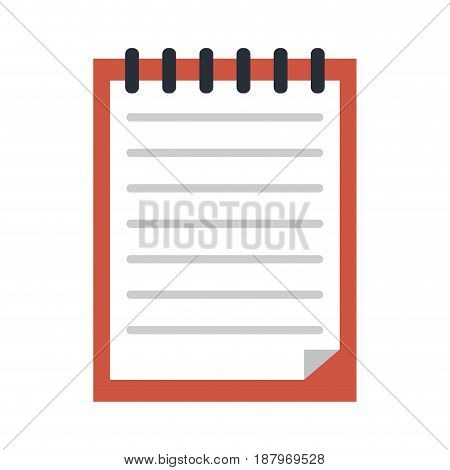 blank notepad stationery tool icon image vector illustration design