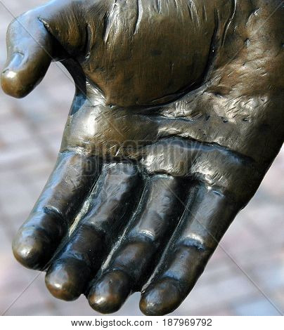 Bonding hand for safety and security to those who need help.