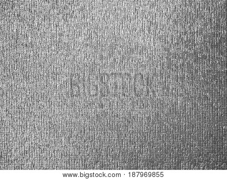 close up of silver foil insulation or reflector sheet texture