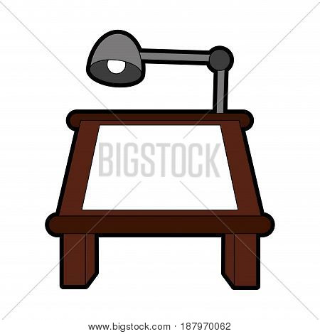 drafting or drawing table stationery tool icon image vector illustration design