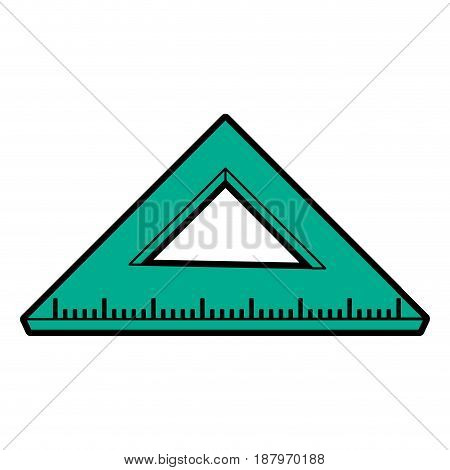 ruler stationery tool icon image vector illustration design