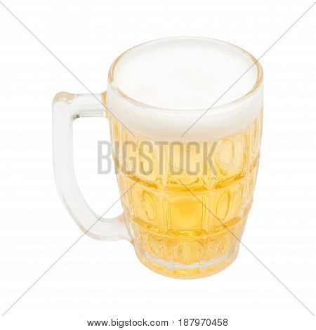 Beer Glasses Ready To Drink. isolated on white backgroundwith clipping path