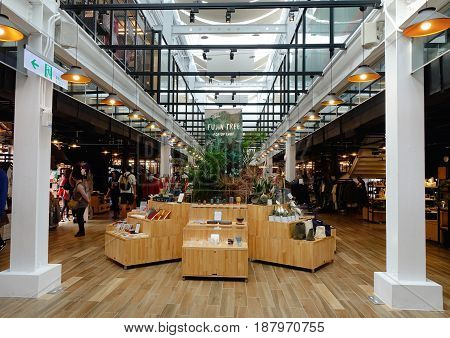 Shops Located At A Shopping Mall In Taipei, Taiwan
