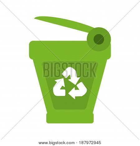 trash can recycle eco friendly related icon image vector illustration design