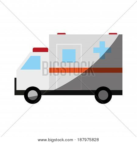 ambulance healthcare related icon image vector illustration design