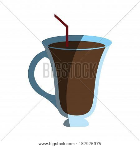 coffee beverage served in special glass cup  icon image vector illustration design
