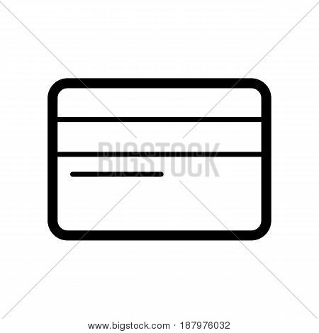 Credit card vector icon. Black and white card illustration. Outline linear icon. eps 10