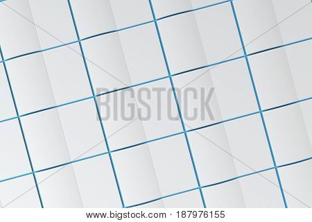 Grid Of Blank White Opened Brochure Mock-up On Blue Background