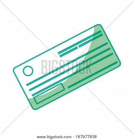 silhouette cute paper check bank to pay, vector illustration design