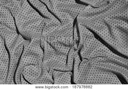 Close Up Of Grey Polyester Nylon Sportswear Shorts To Created A Textured Background