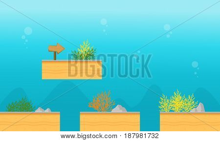 Collection stock underwater game background vector art