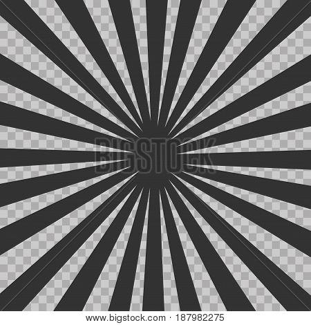 Abstract Comic Book Flash Explosion Radial Lines Background. Vector Illustration For Superhero Desig