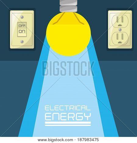 flat bulb concept electrical energy, vector illustration
