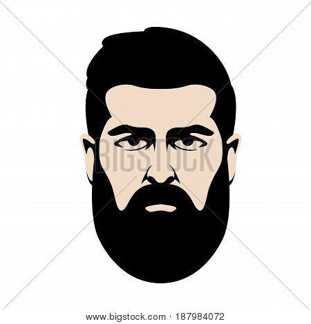 men  head  hipster  vector illustration Flat style