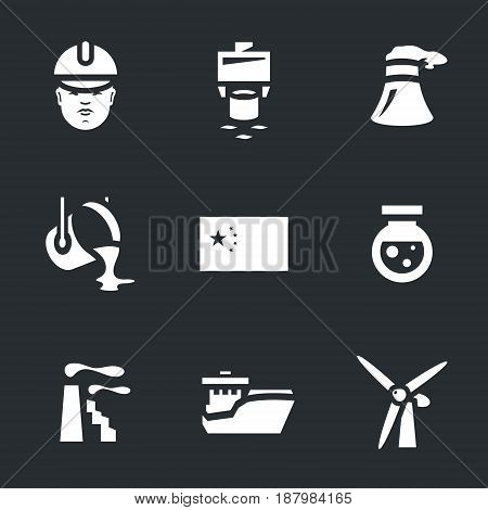 Builder, pile dipping, cooling tower, steelmaking, flag, chemistry, factory, ship, windmill.