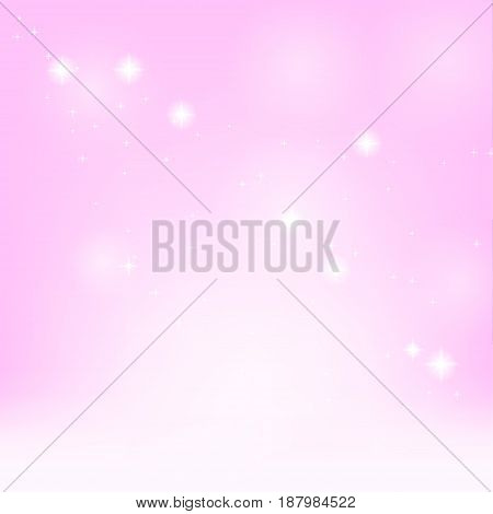 Abstract pink background with reflections. Tenderness. Romantic. Vector illustration.