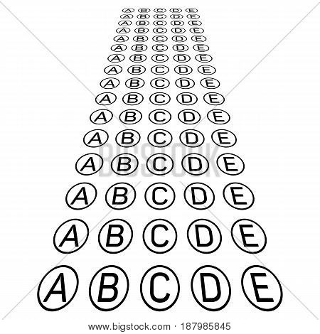 Examination test sheet background. Education concept vector illustration