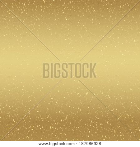 Brown background with golden sparks. Vector illustration