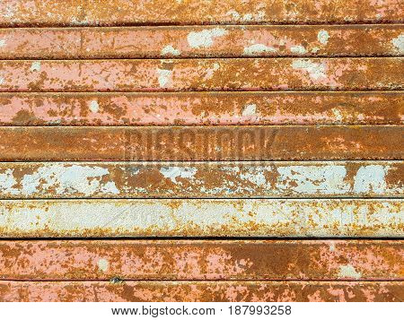 Texture background of the steel began to rust.