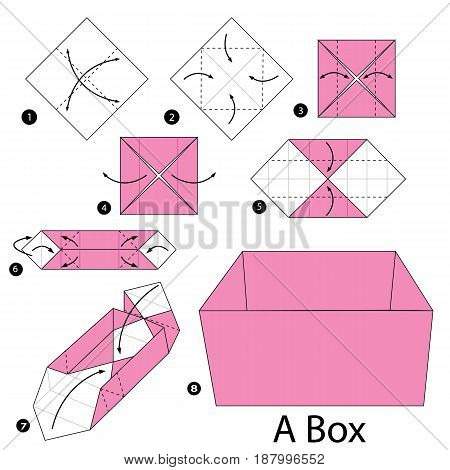 step by step instructions how to make origami A Box.