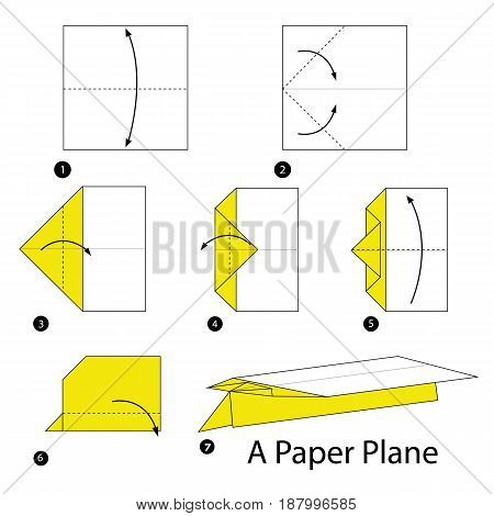 step by step instructions how to make origami A Paper Plane.