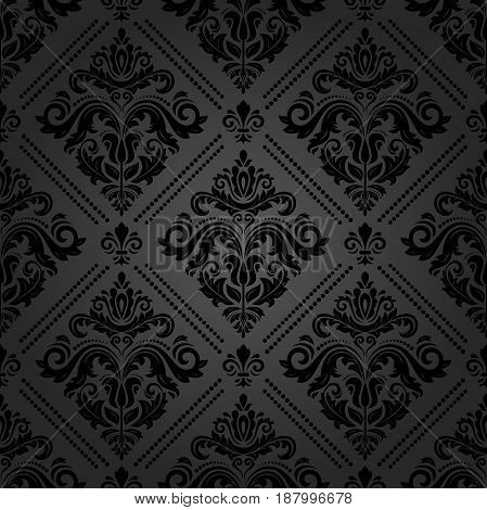 Seamless classic dark pattern. Traditional orient ornament. Classic vintage background