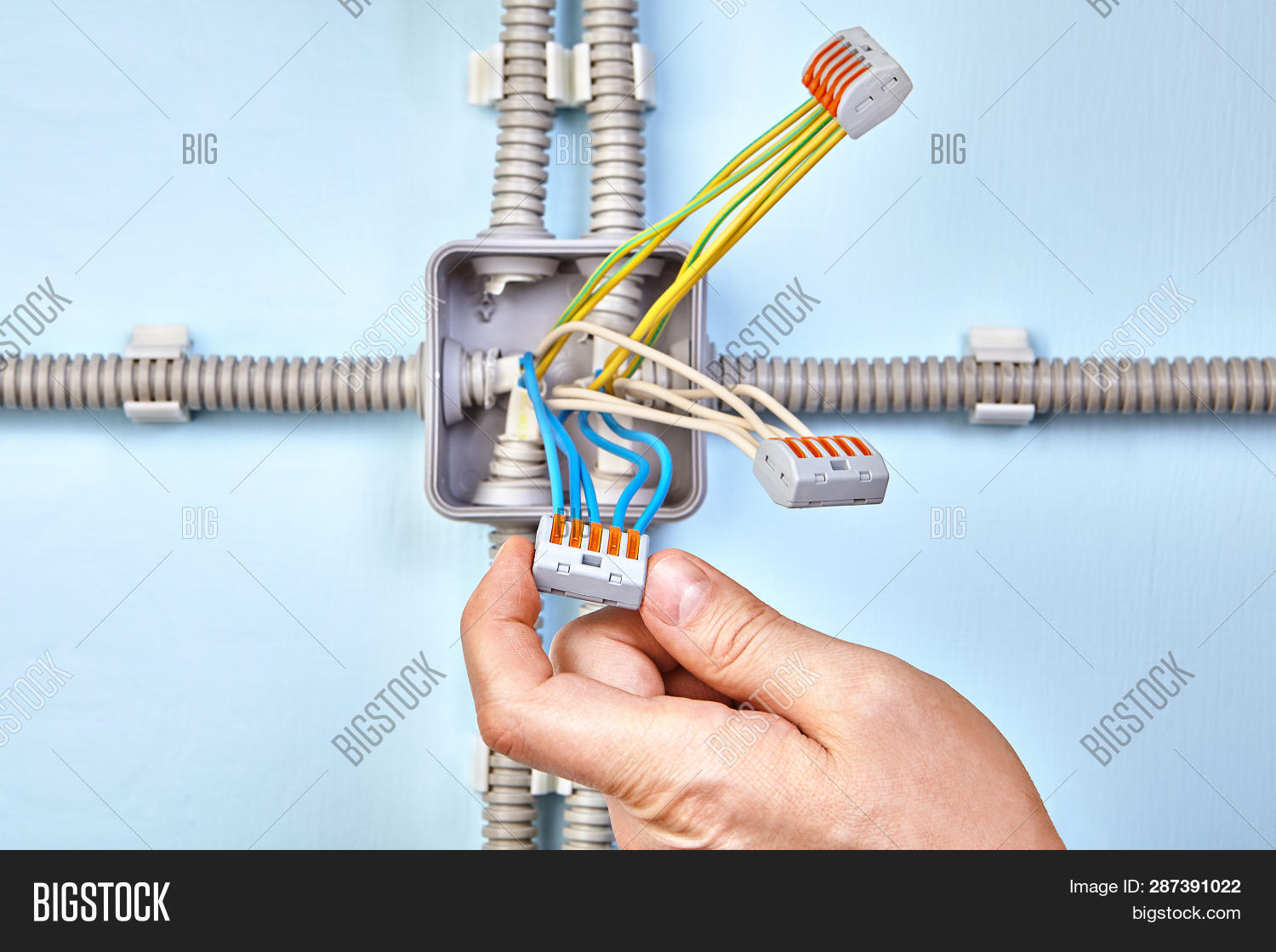 Junction Box Image & Photo (Free Trial) | Bigstock on earthing system, free electrical blueprints, power cable, home wiring, ac power plugs and sockets, national electrical code, golf cart schematics or diagrams, electrical wiring in north america, free lighting diagrams, electrical conduit, ring circuit, free electrical symbols, light switch, free harley wiring diagram, circuit diagram, free hvac diagrams, free automotive electrical diagrams, free ford tractor diagrams, distribution board, mains electricity by country, free electrician logos, free online basic blueprint reading, junction box, three-phase electric power, knob and tube wiring, free schematic diagram, basic electrical schematic diagrams, ground and neutral, elevator controls diagrams, ezgo golf cart parts diagrams, free electrical manuals, free electrical cad drawings, free circuit diagrams, free plumbing diagrams, free bathroom diagrams, free electrical schematics, circuit breaker, electrical system design,