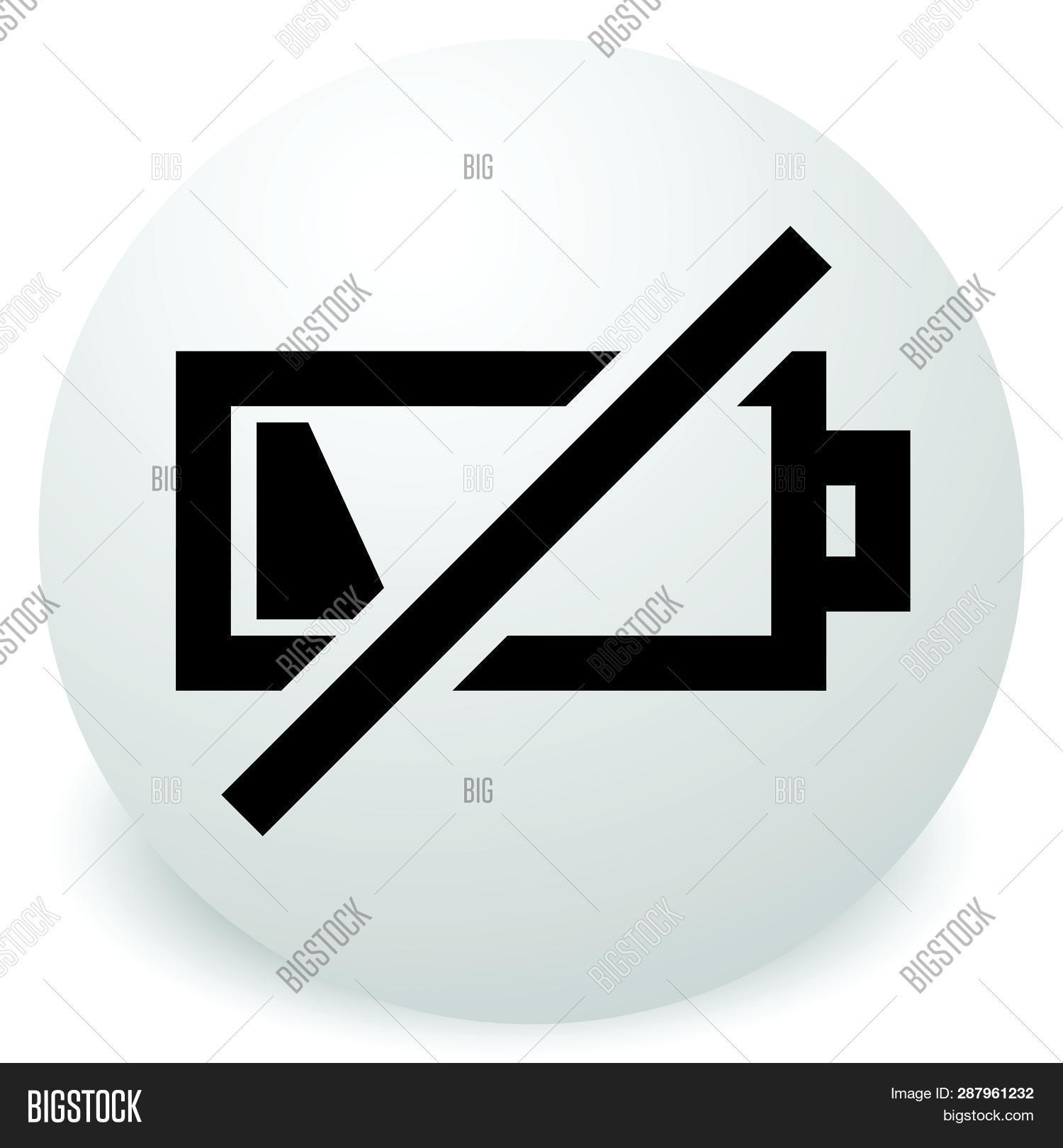 icon low battery vector photo free trial bigstock icon low battery vector photo free