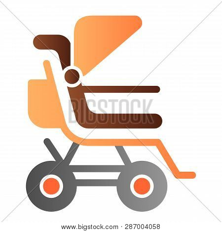 Stroller Flat Icon. Baby Pushchair Color Icons In Trendy Flat Style. Buggy Gradient Style Design, De