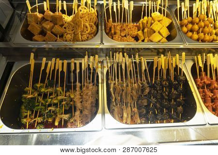 All Kinds Of Barbecue Food In The Snack Bar.