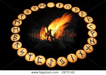 Runes Around Fire